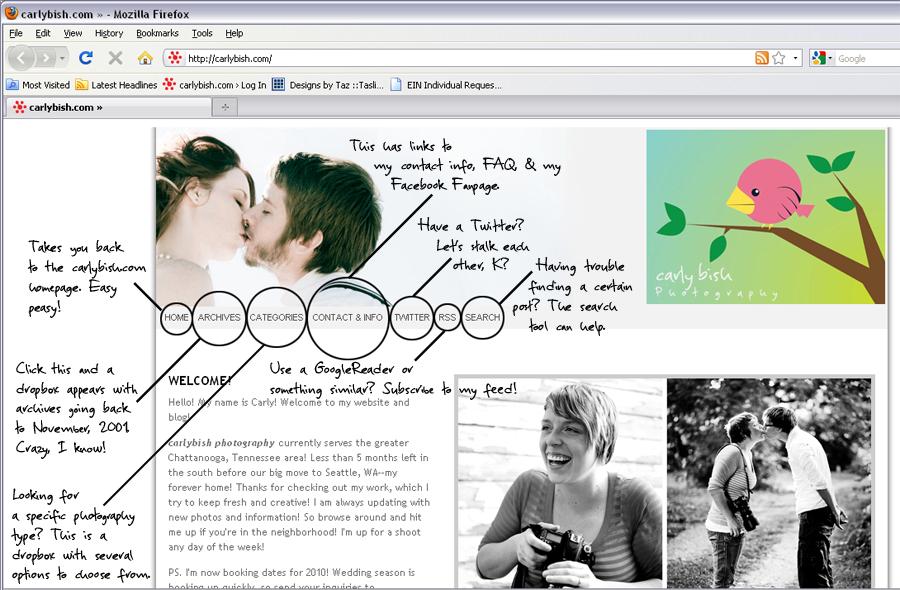 Blog Navigation :: carly bish photography